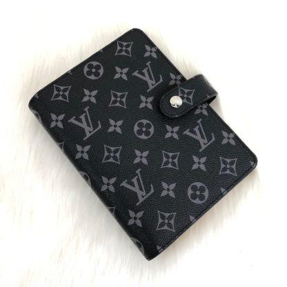 louis vuitton ajanda monogram siyah toz torbali 19x10cm