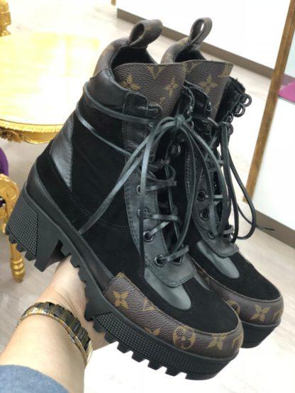 louis vuitton bot siyah