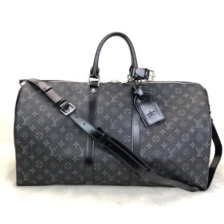 louis vuitton canta Keepall el valizi monogram siyah unisex 55x31x26