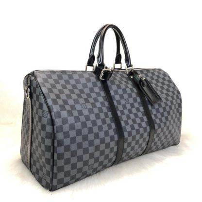 louis vuitton canta Keepall el valizi siyah damier unisex 55x31x26