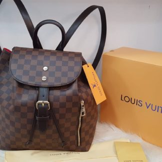 louis vuitton canta suni deri sirt backpack kahve damier  27x33