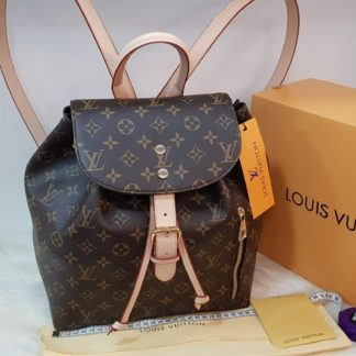 louis vuitton canta suni deri sirt backpack monogram desen 27x33