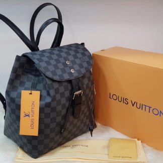 louis vuitton canta suni deri sirt backpack siyah damier 27x33