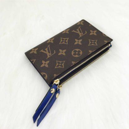 louis vuitton cuzdan Adele mini civit mavi 15x10