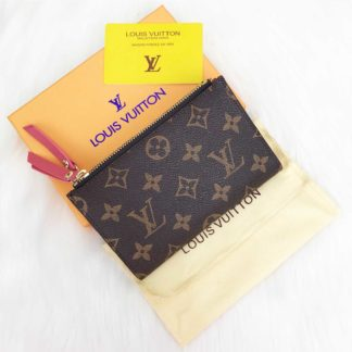 louis vuitton cuzdan Adele mini pembe 15x10