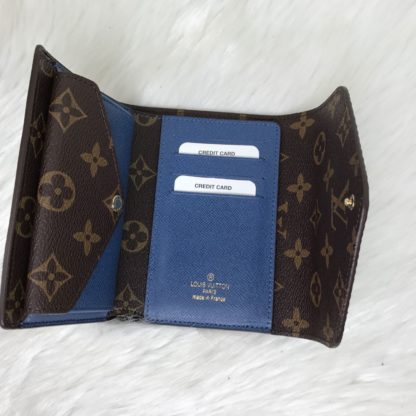 louis vuitton cuzdan Marie lui mini mavi 13x10
