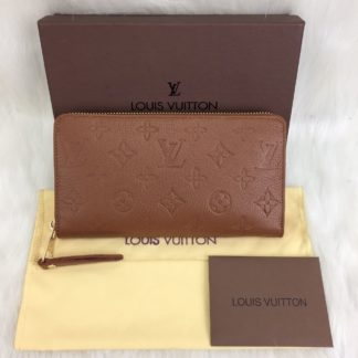 louis vuitton cuzdan Zippy taba 20x11