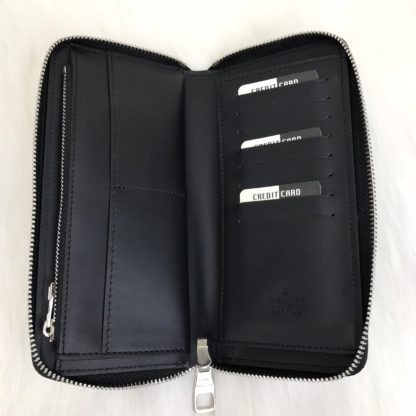 louis vuitton cuzdan Zippy vertical infini siyah 20x10