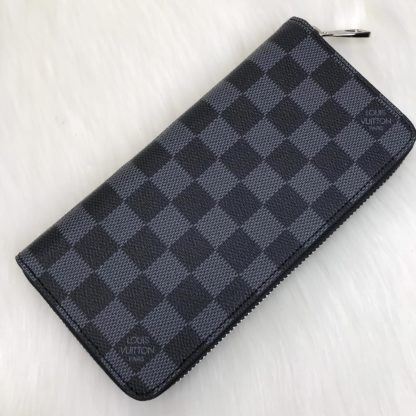 louis vuitton cuzdan Zippy vertical siyah gri damier 20x10