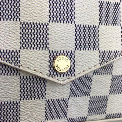 louis vuitton cuzdan cuzdan felice beyaz damier 22x12