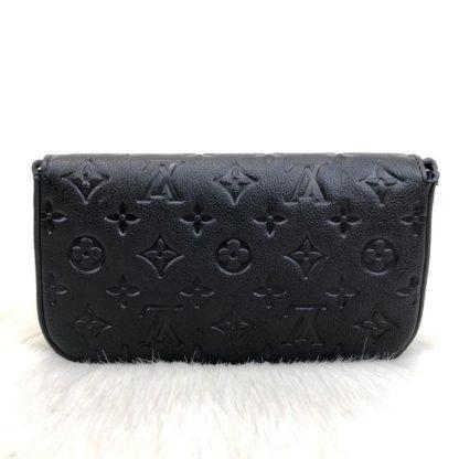 louis vuitton cuzdan cuzdan felice siyah 22x12