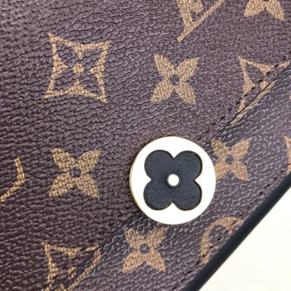 louis vuitton cuzdan flore siyah 20x11