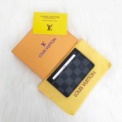 louis vuitton cuzdan kartlik siyah gri damier 11x7