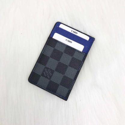 louis vuitton cuzdan kartlik siyah gri damier mavi 11x7