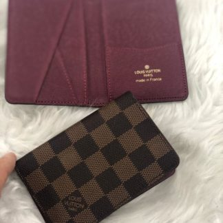 louis vuitton kartlik damier kahve pocket organiser bordo 11x7cm