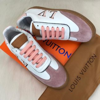 louis vuitton sneakers frontrow vintage suede pembe beyaz kutulu