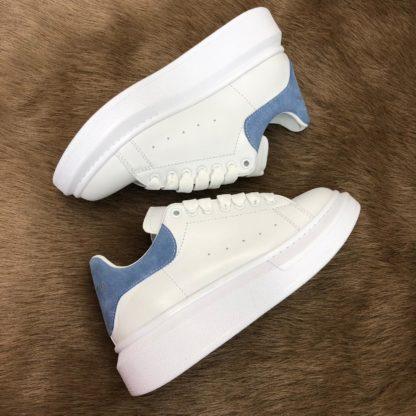 Alexander McQueen Spor Ayakkabi Sneaker Arkasi mavi deri