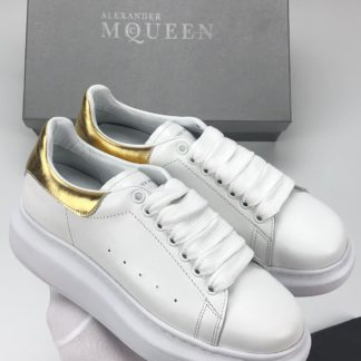 Alexander McQueen Spor Ayakkabi Sneaker beyaz gold