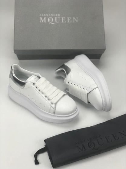 Alexander McQueen Spor Ayakkabi Sneaker beyaz silver