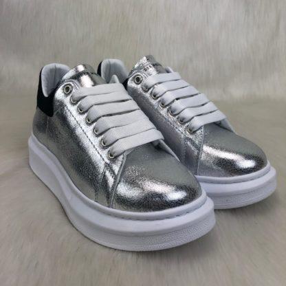 Alexander McQueen Spor Ayakkabi Sneaker silver