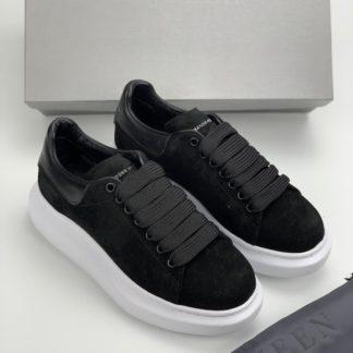 Alexander McQueen Spor Ayakkabi suet Sneaker siyah