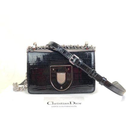 Christian Dior canta Diorama Club  siyah rugan 18x12