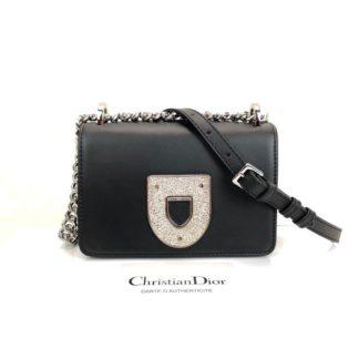 Christian Dior canta Diorama Club  siyah silver 18x12