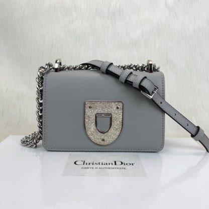 Christian Dior canta Diorama Club gri 18x12