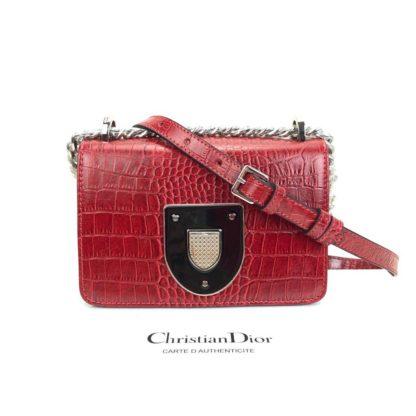 Christian Dior canta Diorama Club kirmizi 18x12