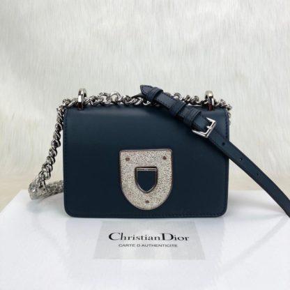 Christian Dior canta Diorama Club lacivert 18x12