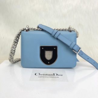 Christian Dior canta Diorama Club mavi 18x12