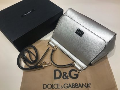 Dolce Gabbana suni deri canta askili buyuk boy gold 30x25