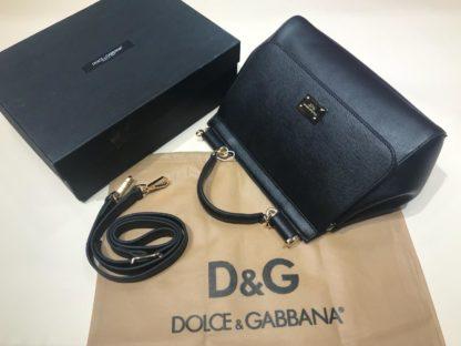Dolce Gabbana suni deri canta askili buyuk boy siyah 30x25