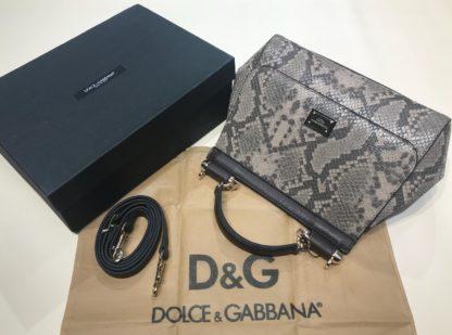 Dolce Gabbana suni deri canta askili yilan desenli vizon 30x25