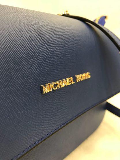 Michael kors canta suni deri postaci capraz aski kapakli civit mavi