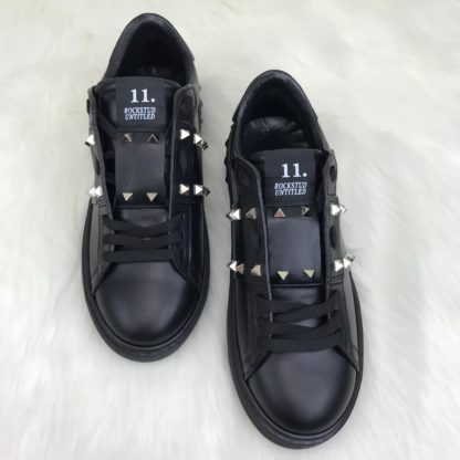 Valentino Spor Ayakkabi unisex sneaker zimbali siyah