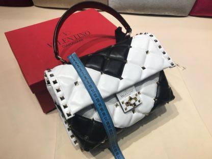 Valentino canta candy stud siyah beyaz 27x22