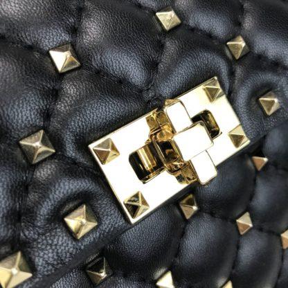 Valentino canta rockstud spike medium zimbali siyah 23x18