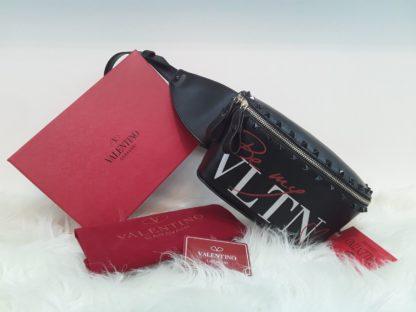 Valentino canta suni deri bel cantasi siyah zimbali siyah 22x15