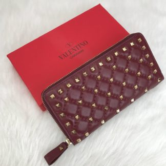 Valentino cuzdan rockstud spike zimbali bordo 19x10