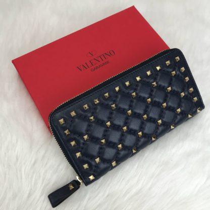 Valentino cuzdan rockstud spike zimbali lacivert 19x10