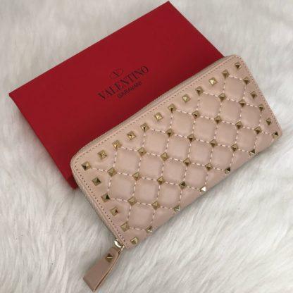 Valentino cuzdan rockstud spike zimbali pudra pembe 19x10