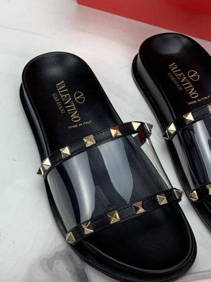 Valentino terlik siyah seffaf
