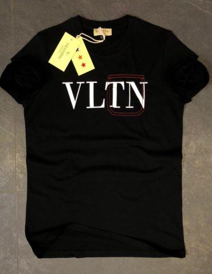 Valentino tshirt unisex siyah VLTN yazili