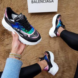 balenciaga ayakkabi triple s suni deri siyah
