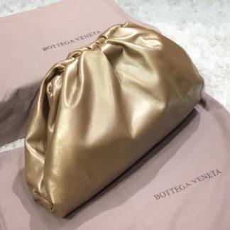 bottega veneta canta pouch duz gold 35x20