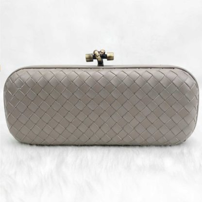 bottega veneta canta stretch knot clutch buyuk boy vizon 25x9