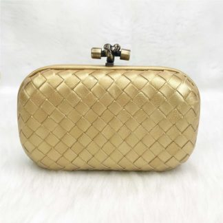 bottega veneta canta stretch knot clutch kucuk boy gold 18x11