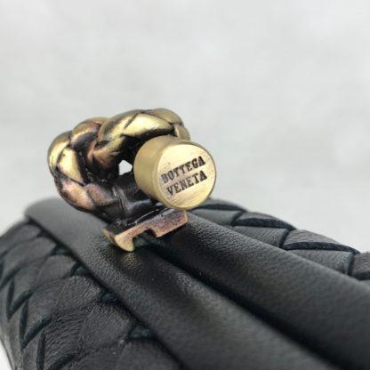 bottega veneta canta stretch knot clutch kucuk boy siyah 18x11