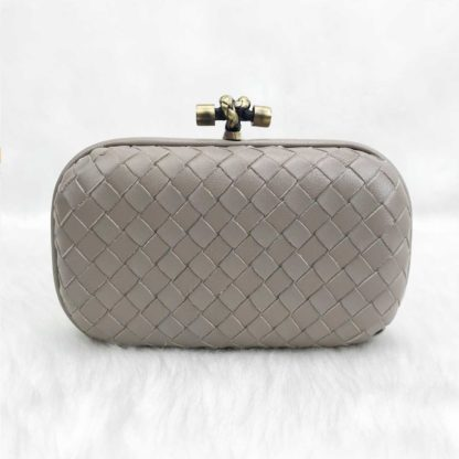 bottega veneta canta stretch knot clutch kucuk boy vizon 18x11